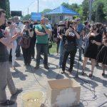 Акція Фрі Сенцов під посольством РФ в Києві - фото 12