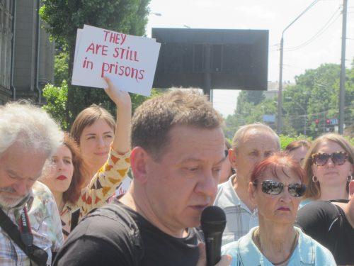 Акція Фрі Сенцов під посольством РФ в Києві - фото 15