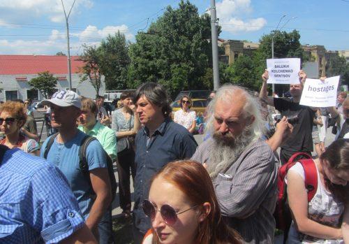 Акція Фрі Сенцов під посольством РФ в Києві - фото 16