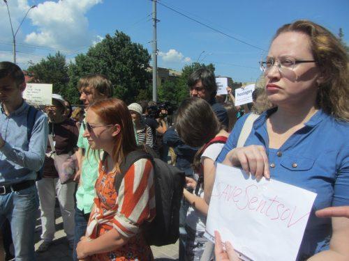 Акція Фрі Сенцов під посольством РФ в Києві - фото 17