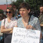 Акція Фрі Сенцов під посольством РФ в Києві - фото 18