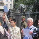 Акція Фрі Сенцов під посольством РФ в Києві - фото 4